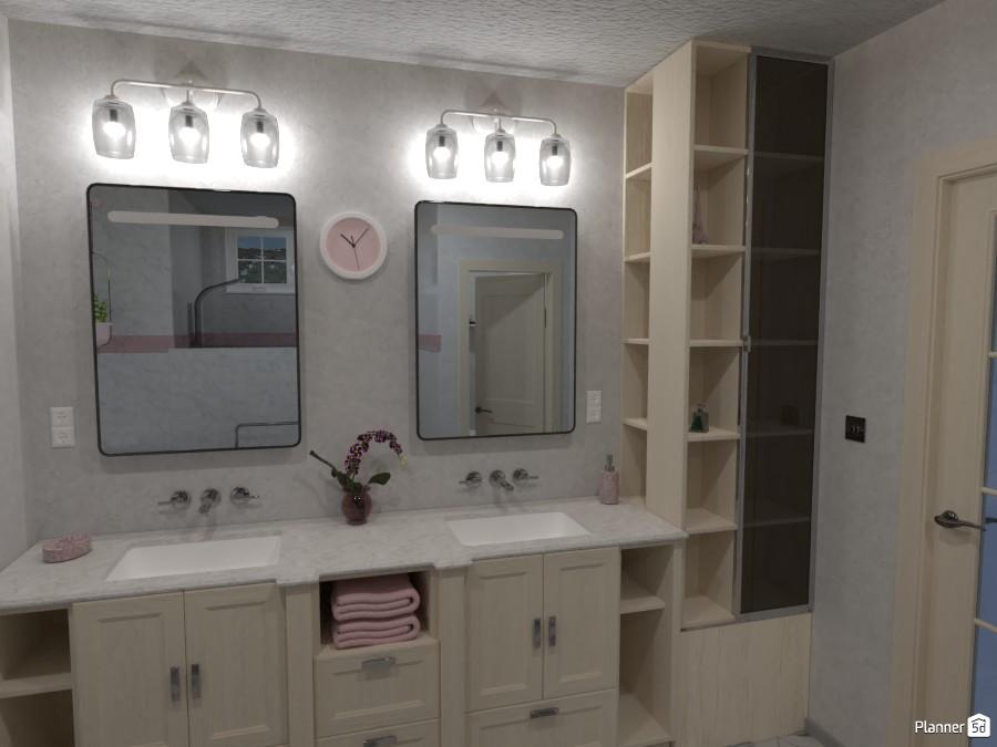 Master Bathroom, Home Design #209-B 3980554 by Valerie W. image