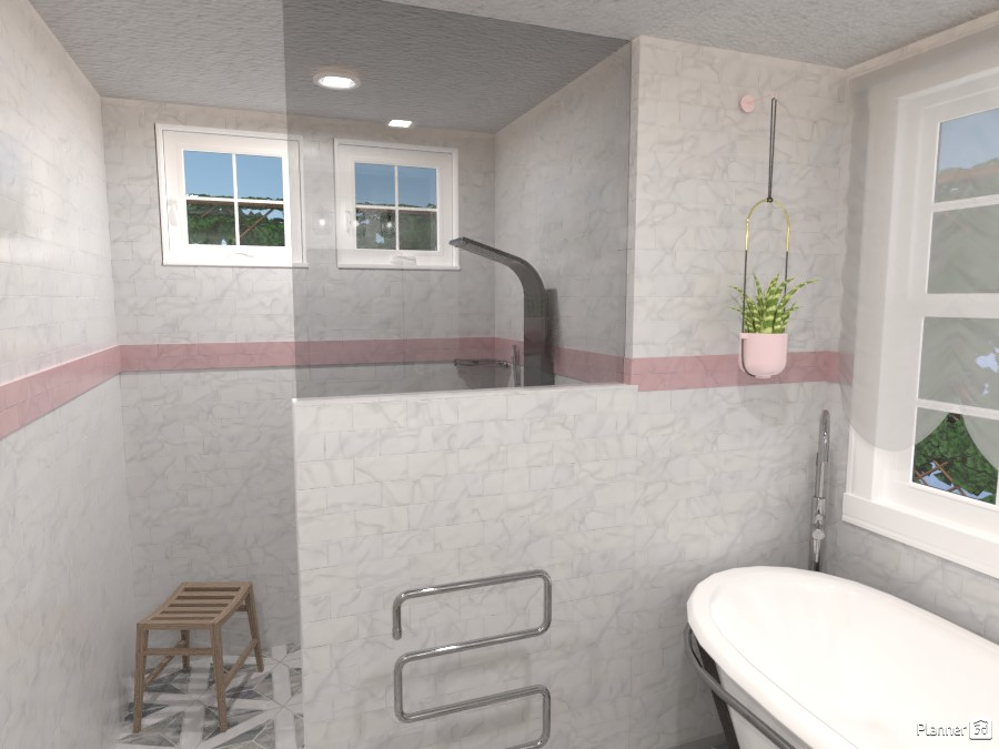 Master Bathroom, Home Design #209-C 3980570 by Valerie W. image