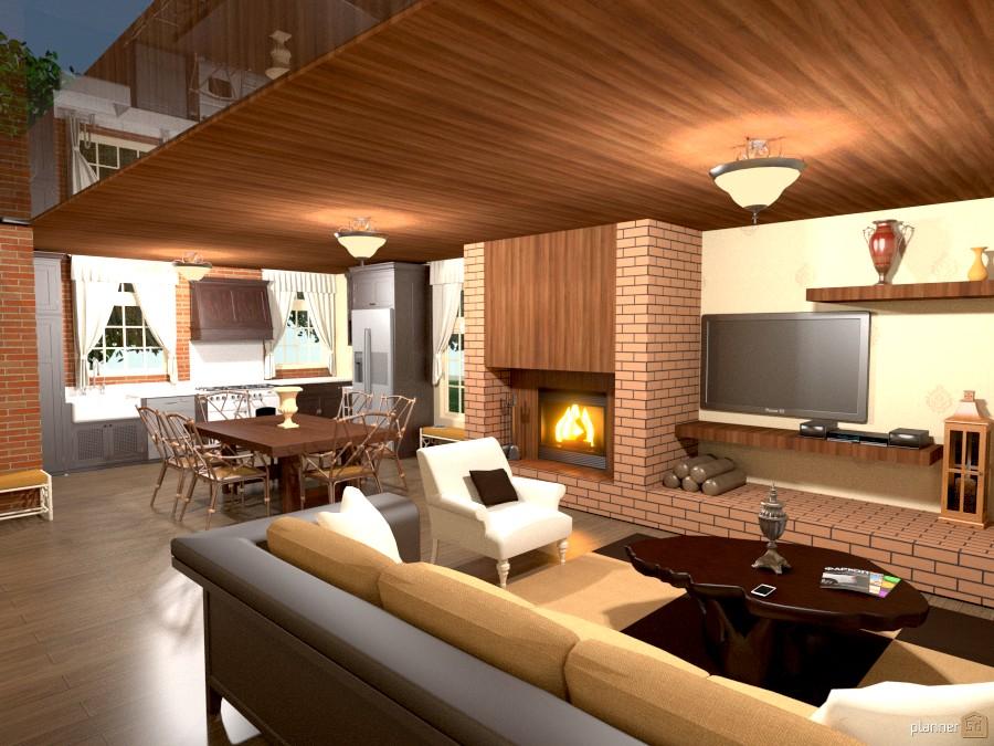 Casa no campo terrace ideas planner 5d for Sala de estar segundo piso