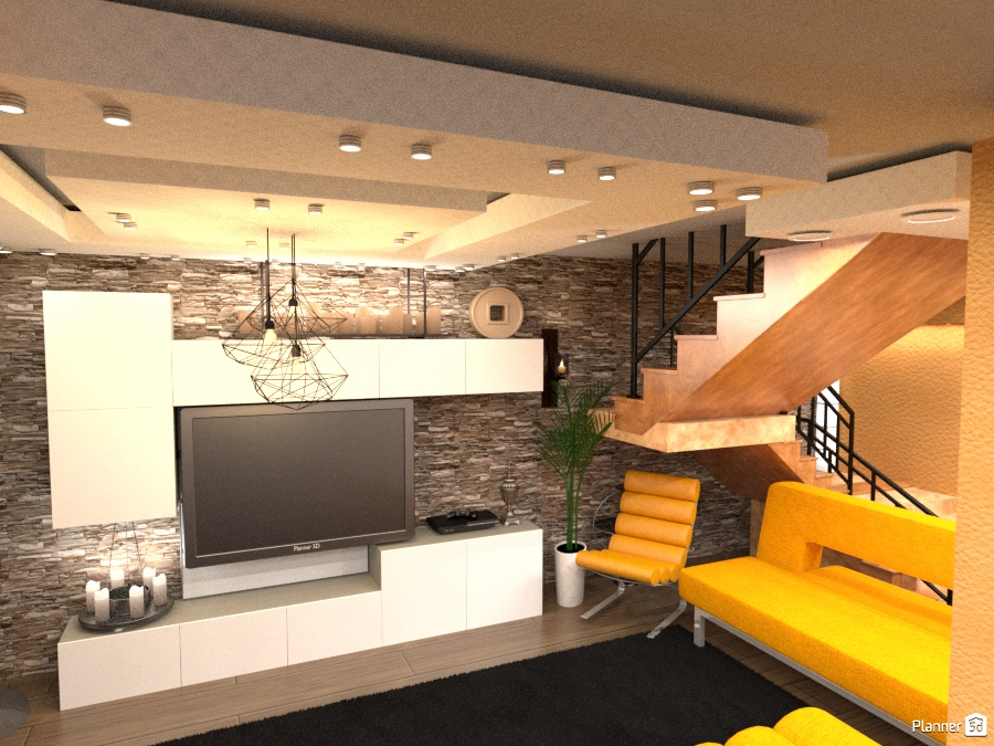 Living room decor ideas planner 5d for Room decor 5d
