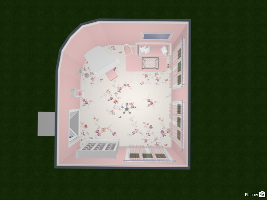 Pink & White Vintage Piano Room 83398 by Fine Designs image