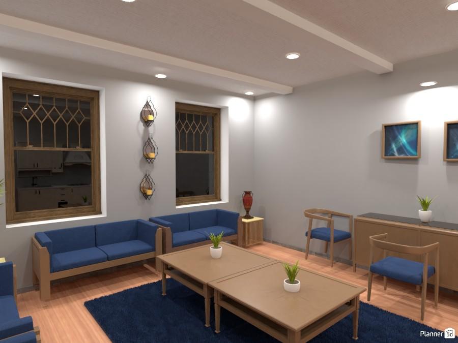 Morrocan living room with a Kitchen 83717 by Huzaifah Shaikh image