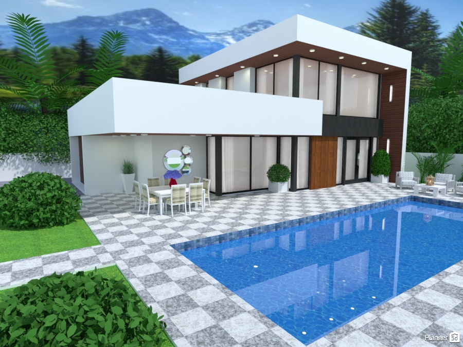 Casa de lujo con piscina - House ideas - Planner 5D