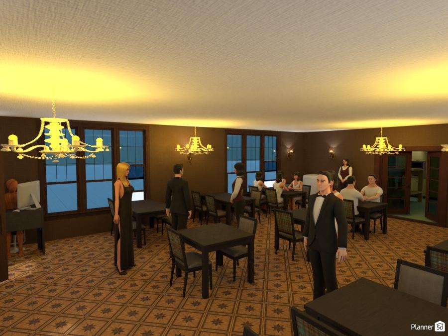 Restaurant apartment ideas planner 5d for 5d cafe