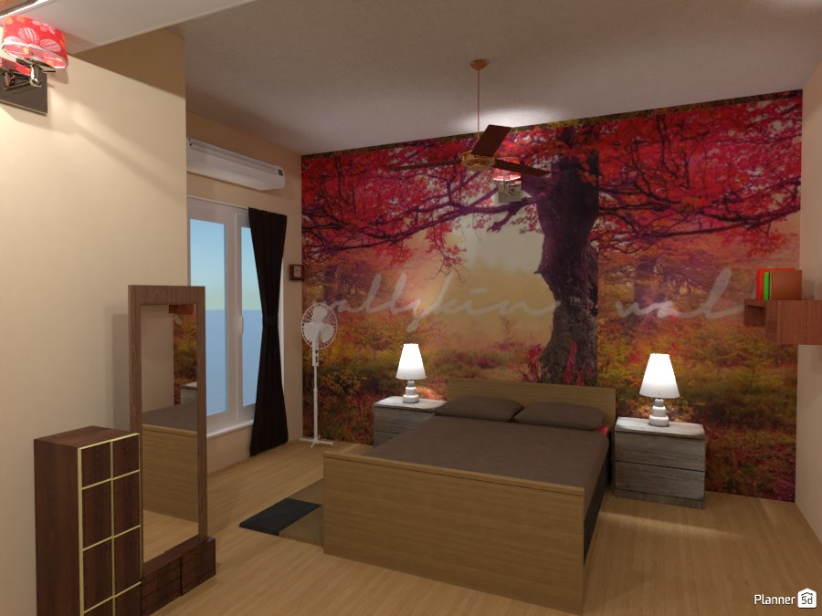 Bedroom with Autumn wall paper 4235304 by Born to be Wild image