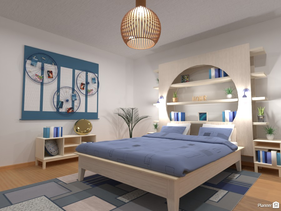 Blue bedroom by the lake or seaside :) 4116604 by Gabes image