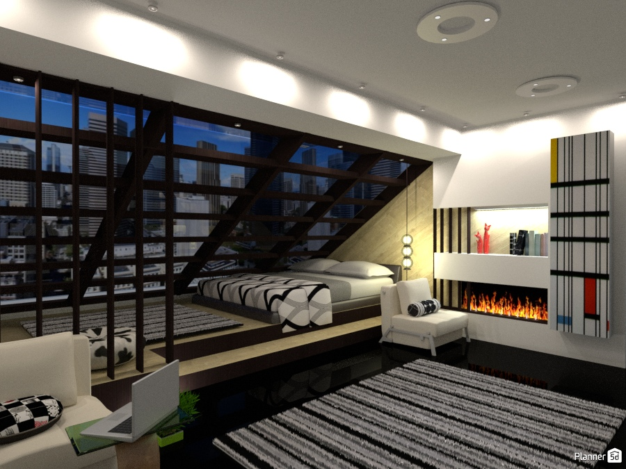 Illuminazione Camera Da Letto Mansarda : Mansarda apartment ideas planner d