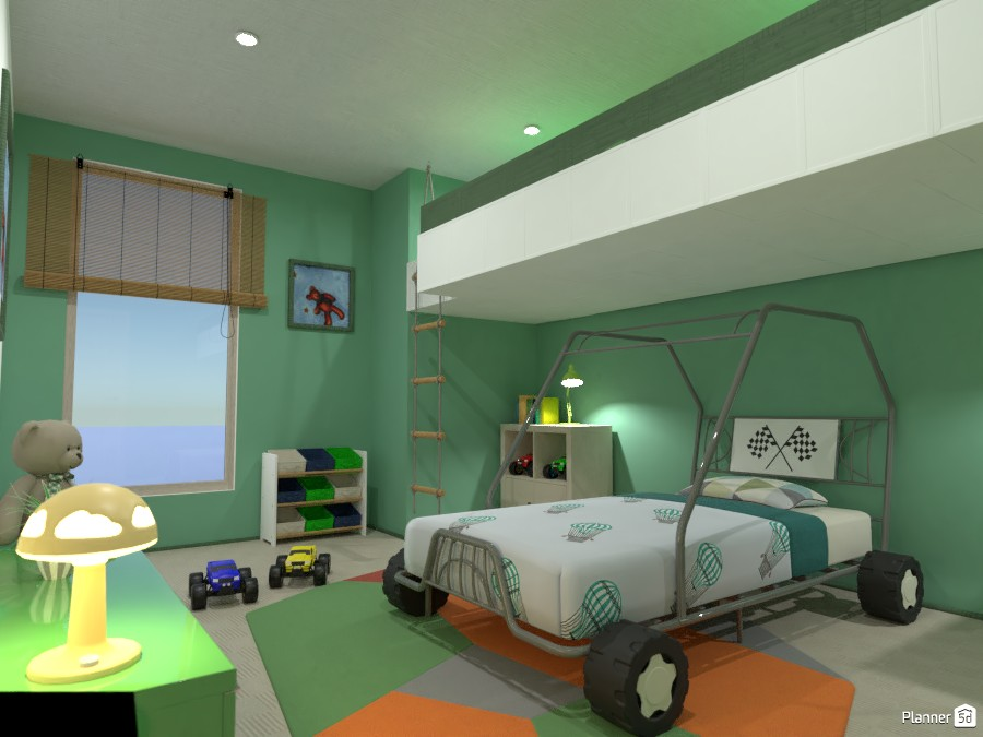 Boy's bedroom with gallery 4042275 by Gabes image