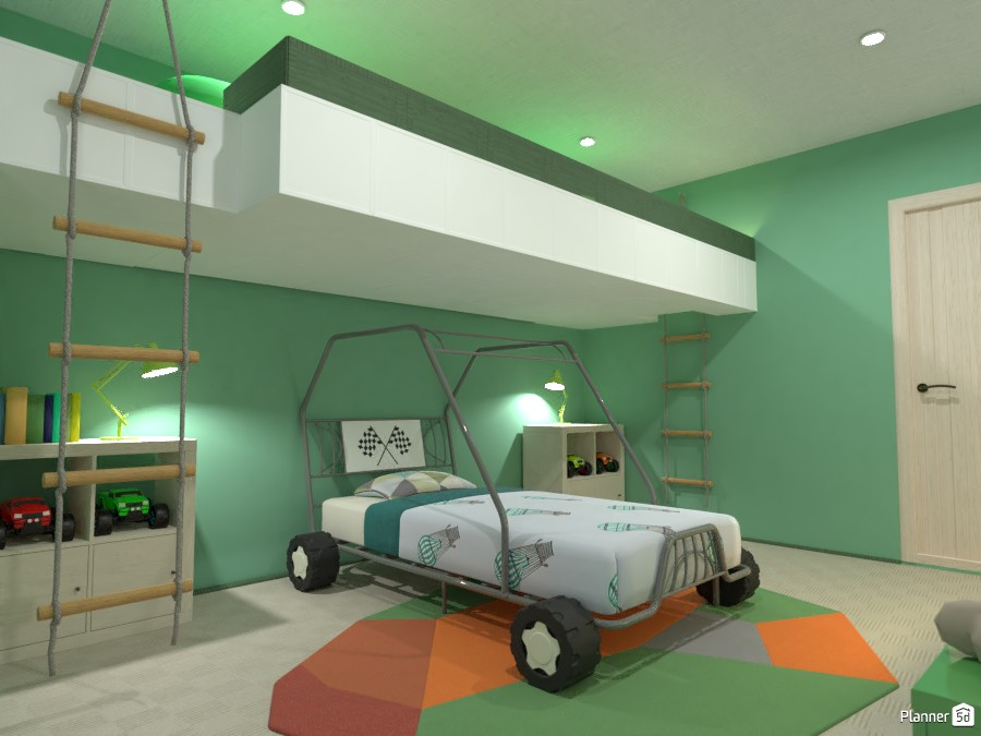 Boy's bedroom with gallery 4042281 by Gabes image