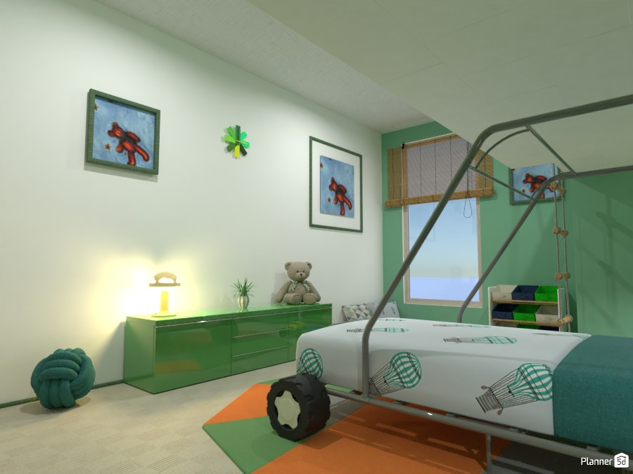 Boy's bedroom with gallery 4042284 by Gabes image