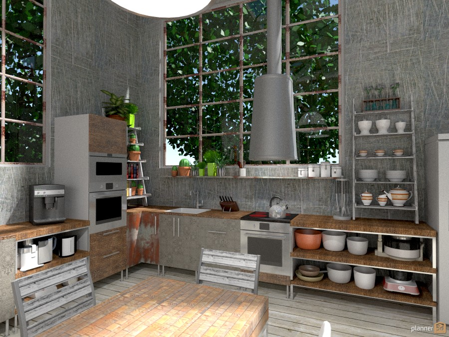 Loft industriale - House ideas - Planner 5D