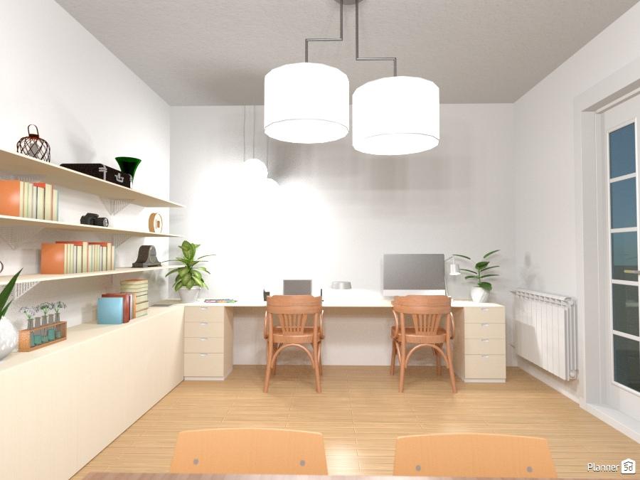 Despacho integrado en salón-comedor 1311312 by Ariadna image
