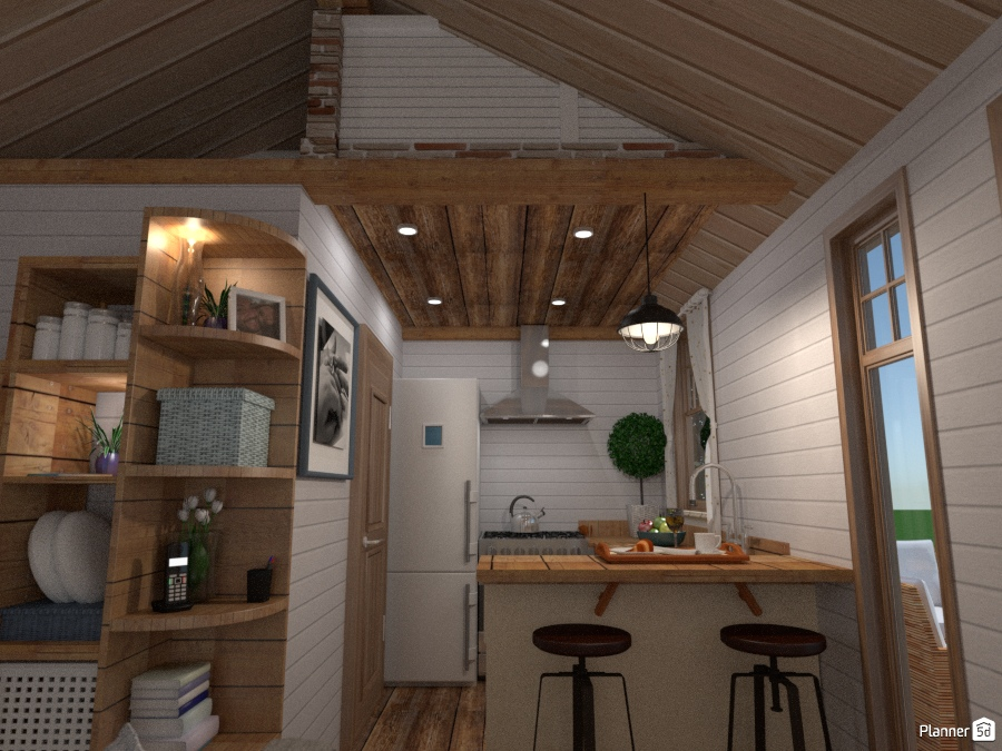 tiny house - country cottage project with outdoor 1804364 by Chiara Meazza image