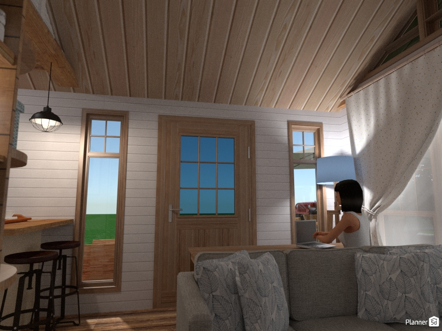 tiny house - country cottage project with outdoor 1804383 by Chiara Meazza image