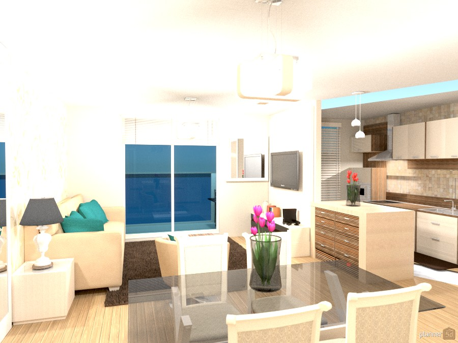 Apartment with living room and kitchen. 224593 by Lia image