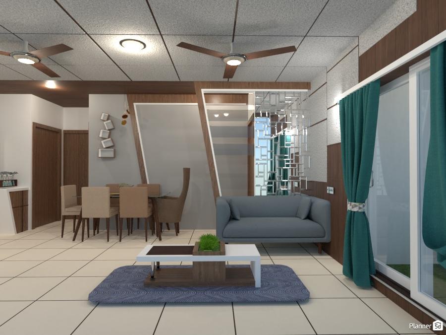 Living Room merged Dining 2954162 by Chandradeepsinh Jadeja image
