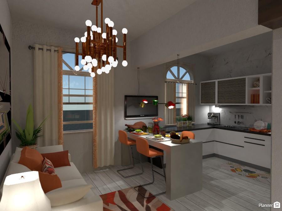 Living & Kitchen 3217815 by Micaela Maccaferri image
