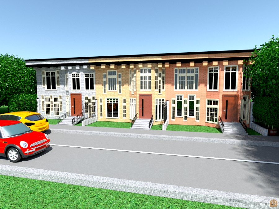 flat top row houses 909578 by Joy Suiter image