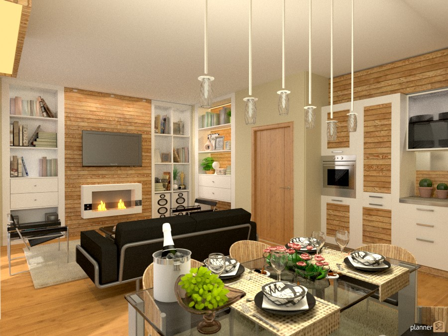 Appartamento 95mq (living) - Apartment ideas - Planner 5D