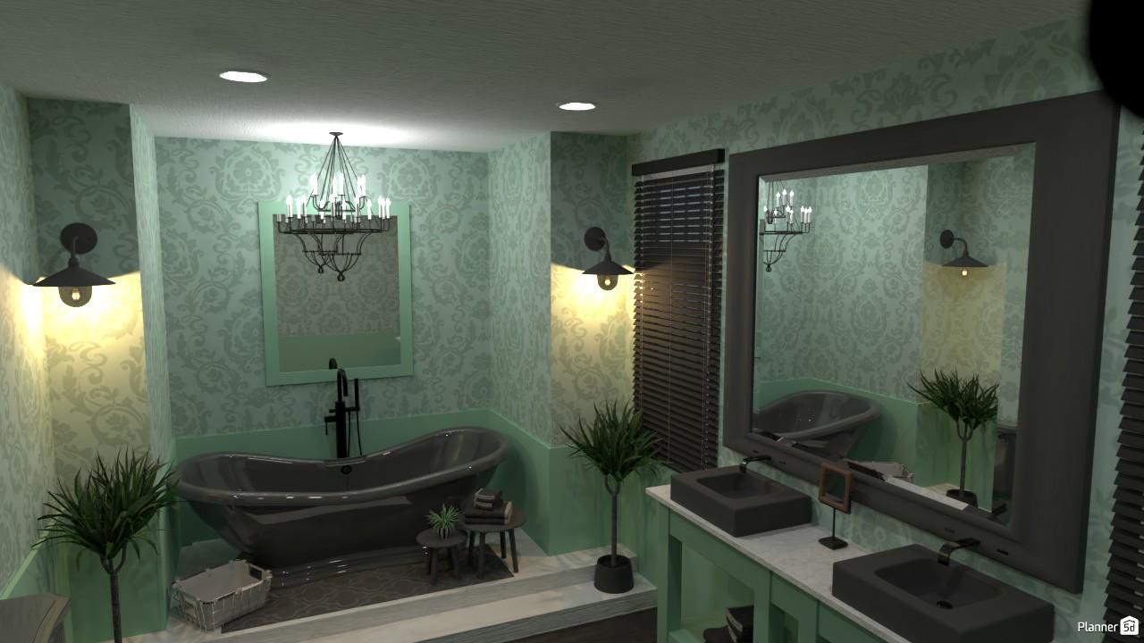 Country Interior Style Bathroom. 3893487 by Joanna Demetriou image
