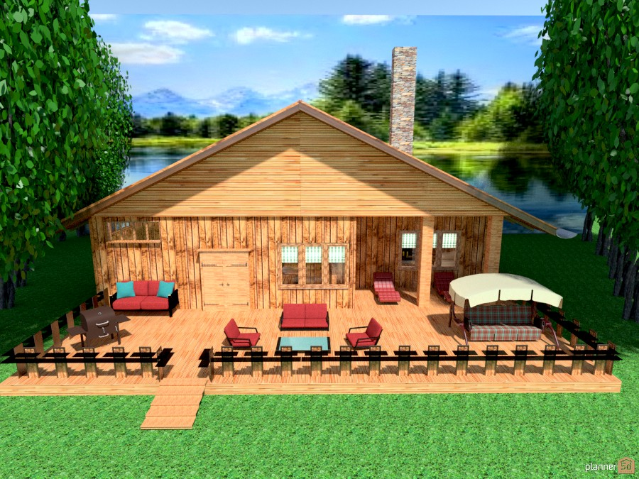 cabin at the lake - House ideas - Planner 5D
