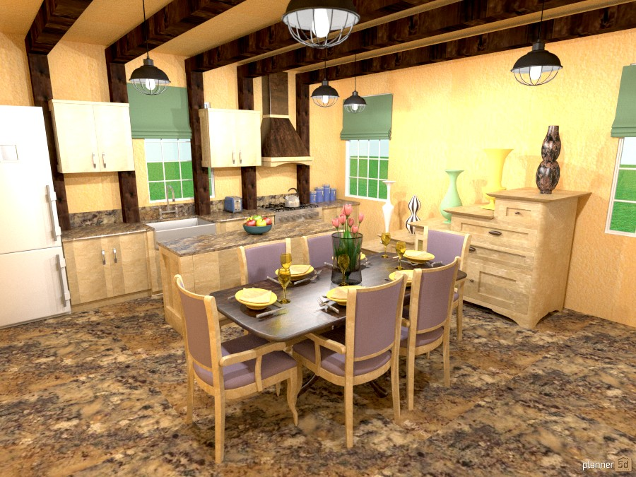 custom kit/dining/stairstep hutch 997325 by Joy Suiter image