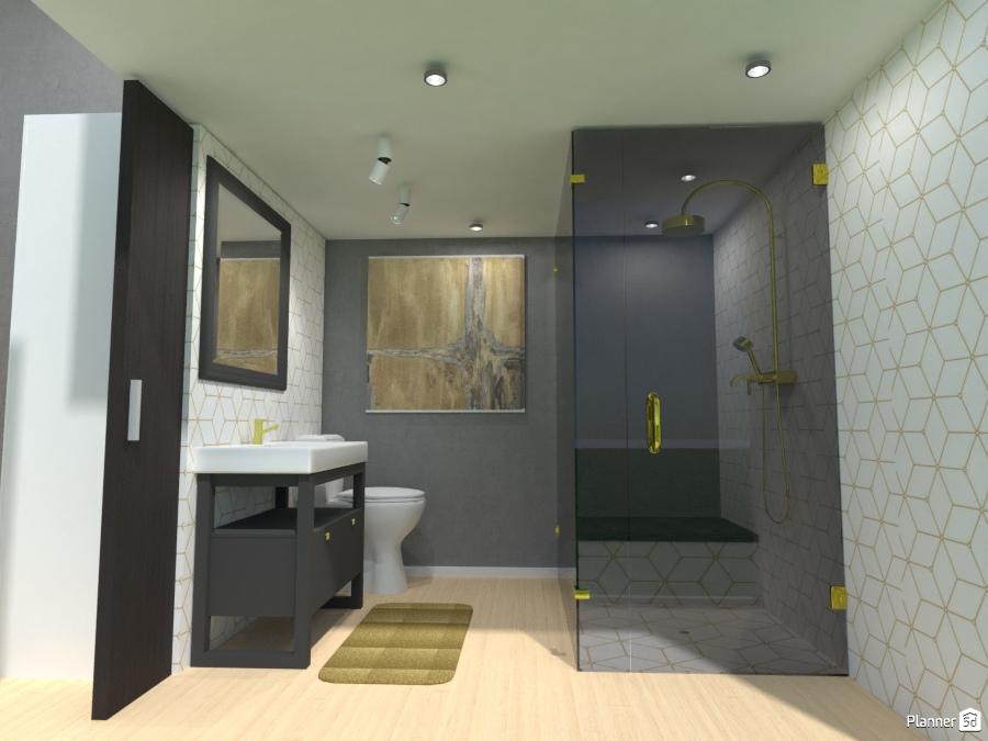 Modern tiny home bathroom house ideas planner 5d for Bathroom design 5d