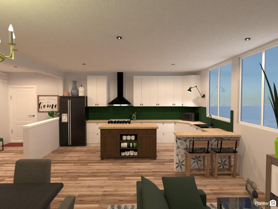 Farmhouse Kitchen Free Online Design 3d House Ideas Isabel By Planner 5d