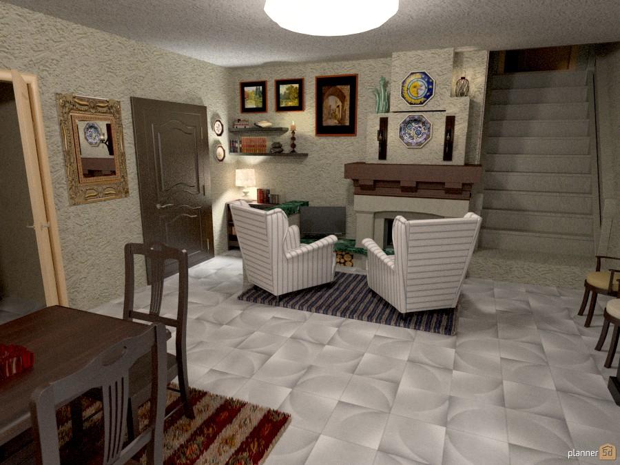 Lago Maggiore: Sala da pranzo con camino - Apartment ideas - Planner 5D