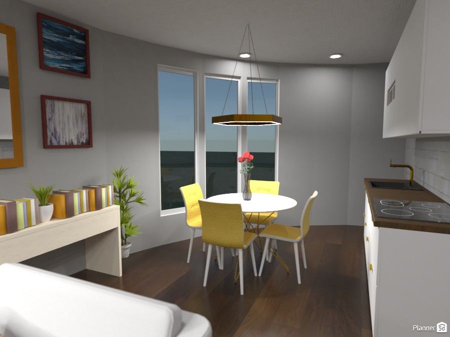 Round House: Dining Room/Kitchen 3743819 by Erin image