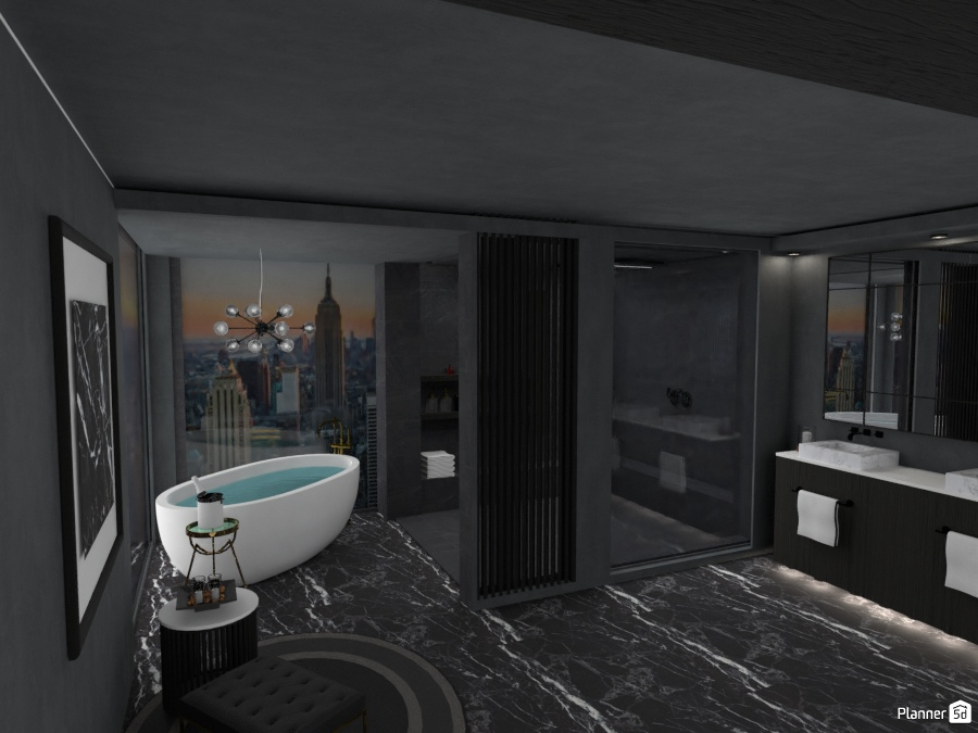 BLACK MARBLE BATHROOM 2639535 by Arni image