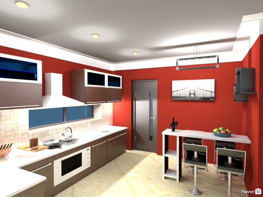 1st kitchen house ideas planner 5d for Kitchen design 5d