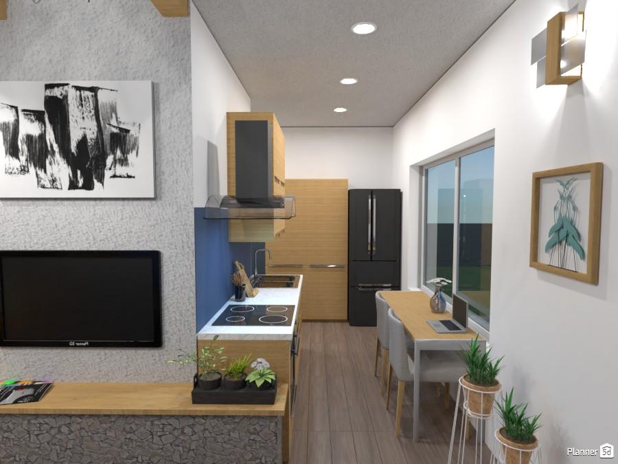 Open floor house- Kitchen 3462678 by Elena Z image
