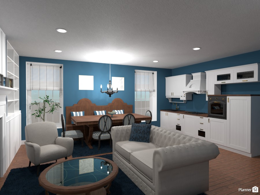 Contest: classic kitchen and living room III 3956379 by Elena Z image
