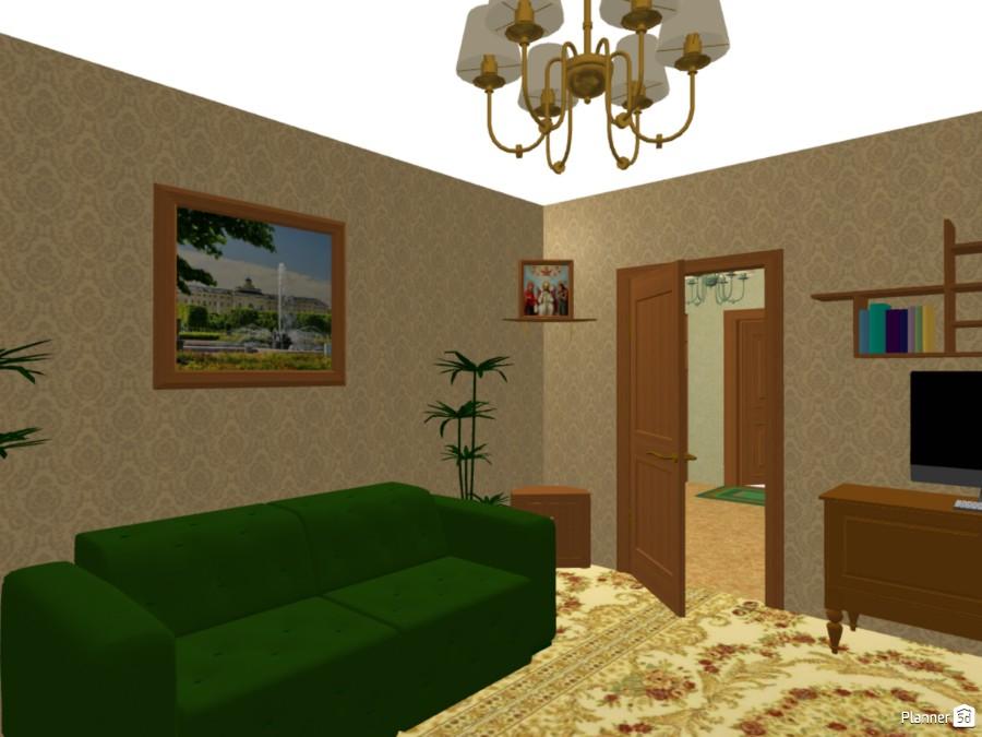 Проект дизайна интерьера двухкомнтаной квартиры в классическом стиле 74218 by Мария Кирпа image