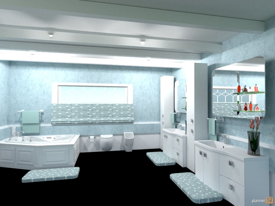 the blue bathroom 941117 by Joy Suiter image