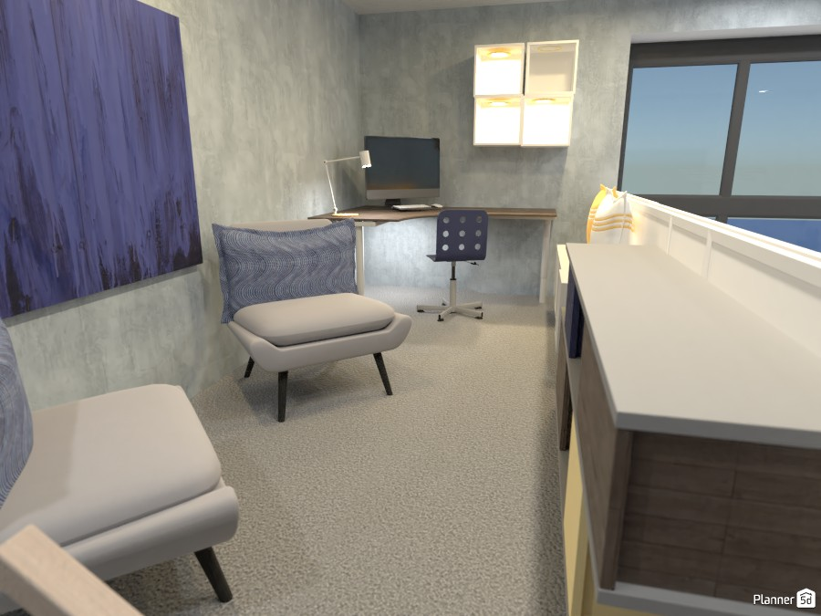 Living room, kitchen, office design.  Render 2 3684216 by Doggy (please vote) image