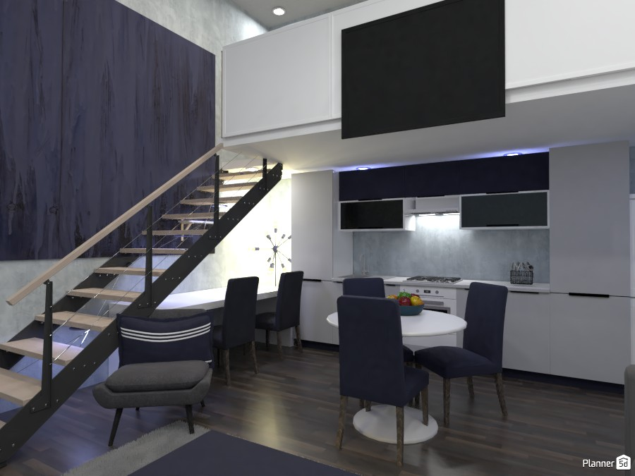 living room, kitchen and office design. 82869 by Doggy (please vote) image