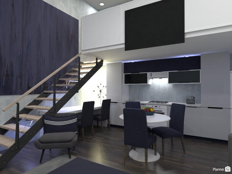Living room, kitchen, office design.  Render 1 3684218 by Designer (doggy) image