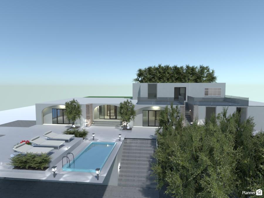 White villa 3579047 by Michel image