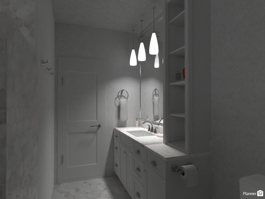 L-Shaped Bathroom 2663774 by Valerie W. image