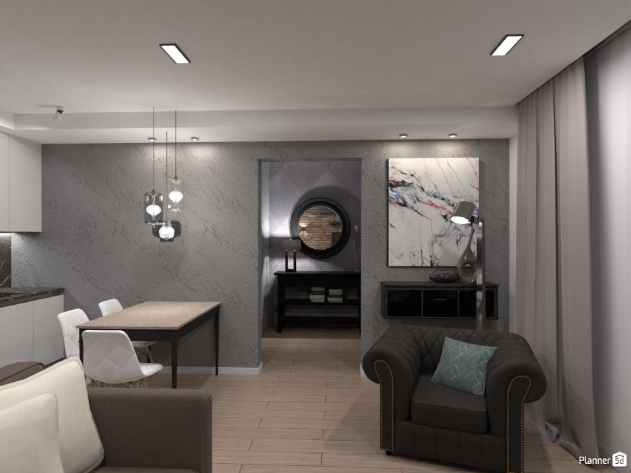 Кухня-гостиная в холостяцкой квартире 73238 by Elena Strenova image