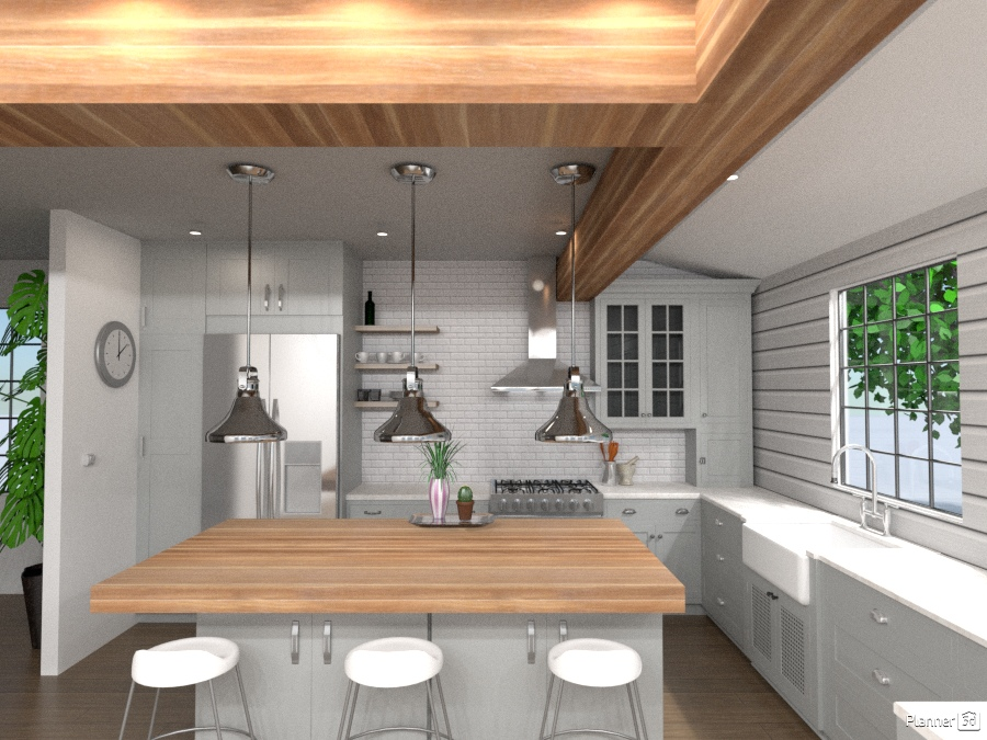 Sleek kitchen house ideas planner 5d for Kitchen design 5d