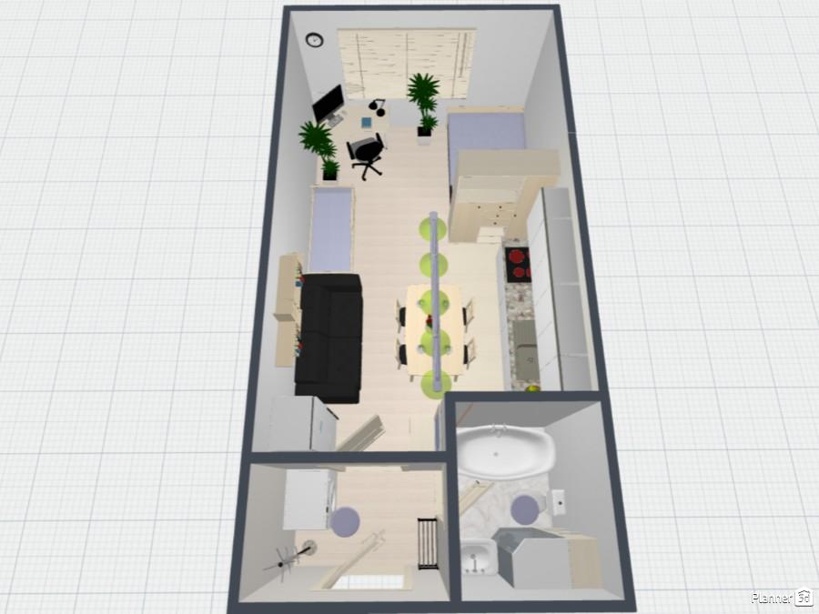 Современный дизайн интерьера однокомнатной квартиры 71138 by Мария Кирпа image