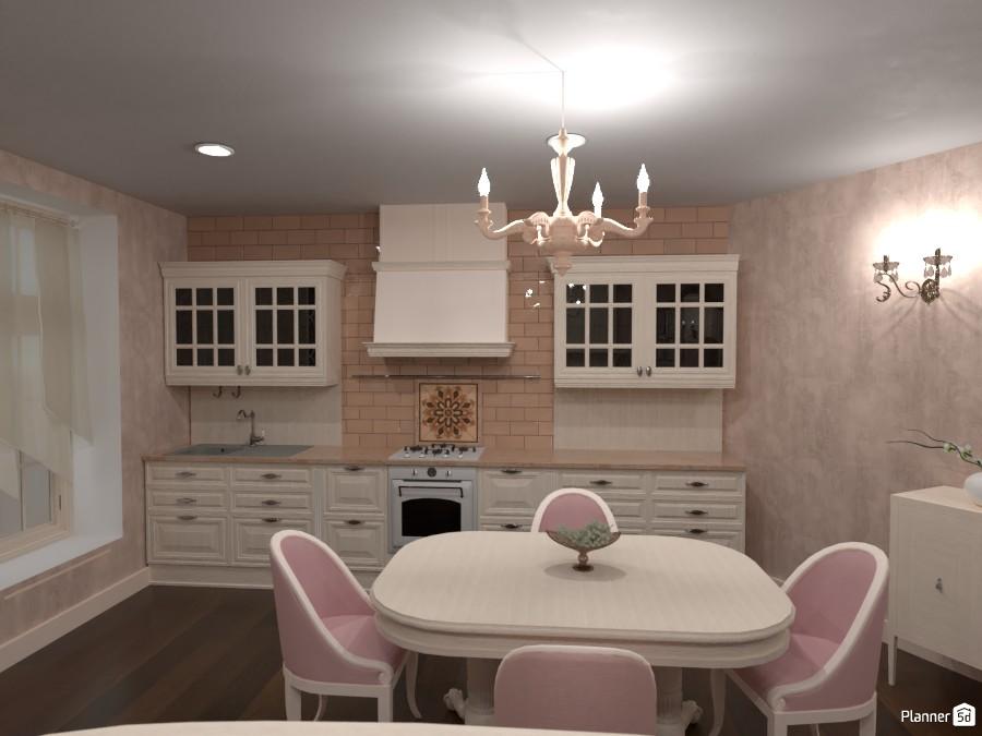 Classic kitchen and living room 3944549 by Rita Oláhné Szabó image