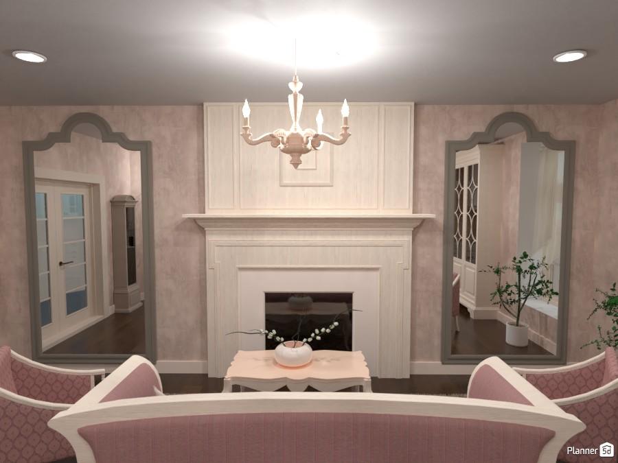 Classic kitchen and living room 3944552 by Rita Oláhné Szabó image