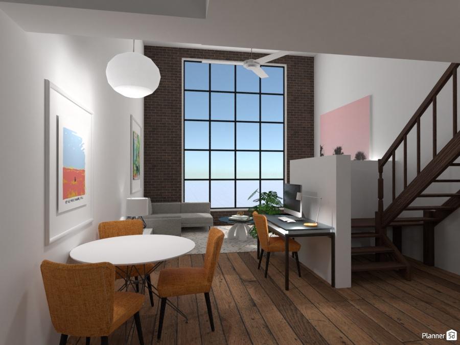 Industrial Loft Apartment - Apartment ideas - Planner 5D