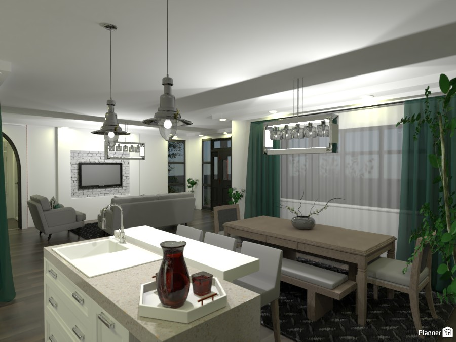 House 01/21 - Dining Room & Kitchen & Living Room #2 3934350 by M SECK image