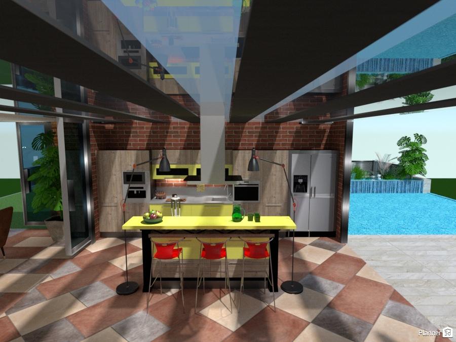 Cucina vista piscina - Apartment ideas - Planner 5D