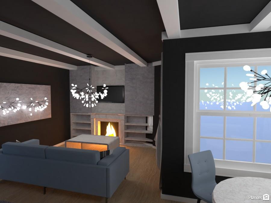 Salón con chimenea 3905407 by Laura image